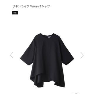 エンフォルド(ENFOLD)の新品 ENFOLD 今期リネンライクプルオーバー(シャツ/ブラウス(半袖/袖なし))