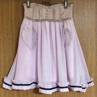 モンリリィ(mon Lily)のハートパッチビスチェクフリルボリュームスカート(ミニスカート)