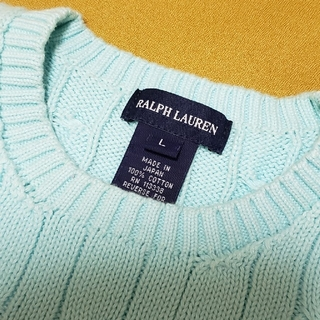 ラルフローレン(Ralph Lauren)のサマーニット RALPH LAUREN ブルー(ニット)