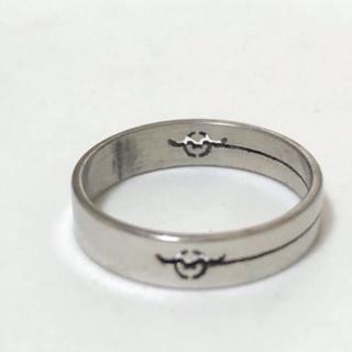 同時購入で300円 ステンレス指輪 透し彫りマーク(リング(指輪))