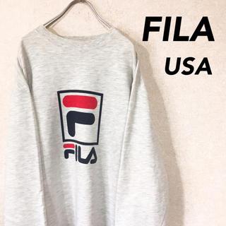 フィラ(FILA)のFILA フィラ USA製 スウェット 長袖 ビッグシルエット(スウェット)