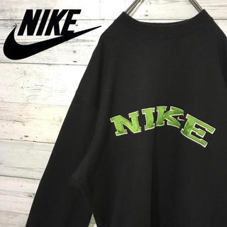 ナイキ(NIKE)の【超激レア】ナイキ☆銀タグ 刺繍ビッグロゴ ビッグサイズ スウェット 90s(スウェット)