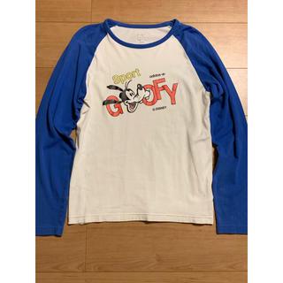 アディダス(adidas)のadidas×ディズニー グーフィープリント コラボ ラグランスリーブシャツ(Tシャツ/カットソー(七分/長袖))