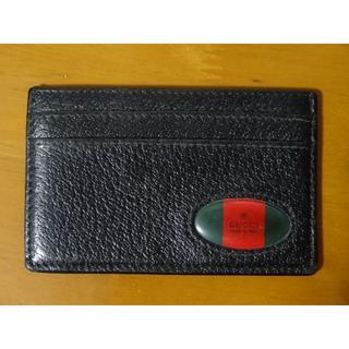 グッチ(Gucci)のGUCCI グッチ カードケース 定期入れ ブラック 黒(名刺入れ/定期入れ)