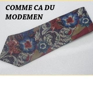 COMME CA MEN - 美品★コムサCOMME CA DU MODEMEN【美し過ぎる花柄】高級ネクタイ