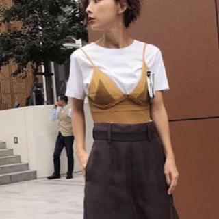 アメリヴィンテージ(Ameri VINTAGE)のお値下げ✴︎白T&ビスチェ ☆セット(Tシャツ(半袖/袖なし))