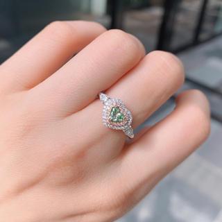 Giaライトグリーンダイヤモンド指輪(リング(指輪))
