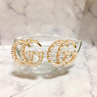 8b34f4b8cf43 Gucci - グッチ つやつやパールピアス ノベルティ ggマーモント ゴールド 可愛い モテ