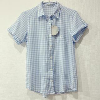 ジーユー(GU)のチェック柄 半袖シャツブラウス(シャツ/ブラウス(半袖/袖なし))