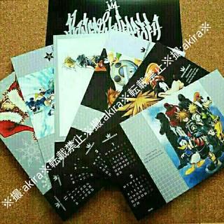 スクウェアエニックス(SQUARE ENIX)のキングダムハーツ カレンダー ポストカード 特典 非売品(その他)
