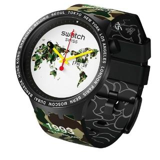 アベイシングエイプ(A BATHING APE)のBAPE X SWATCH BIG BOLD WORLD  腕時計(腕時計(アナログ))