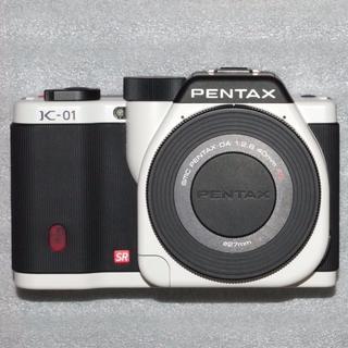 ペンタックス(PENTAX)のPENTAX K-01 レンズキット DA 40mm F2.8 XS付 中古良品(ミラーレス一眼)
