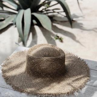 ルームサンマルロクコンテンポラリー(room306 CONTEMPORARY)のsea grass hat ☆ lack of color 同型(麦わら帽子/ストローハット)