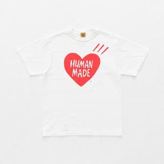 アベイシングエイプ(A BATHING APE)のSサイズHUMAN MADE T-SHIRT ホワイト (Tシャツ/カットソー(半袖/袖なし))