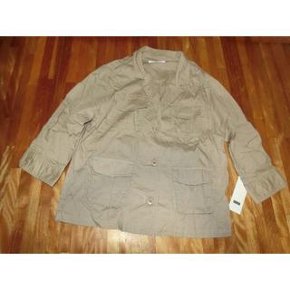 ローリーズファーム(LOWRYS FARM)のLOWRYS FARM コットンミリタリーシャツジャケット7分袖(ミリタリージャケット)