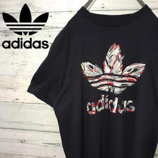 アディダス(adidas)の【レア】アディダスオリジナルス☆トレフォイル ビッグロゴ 奇抜デザイン Tシャツ(Tシャツ/カットソー(半袖/袖なし))