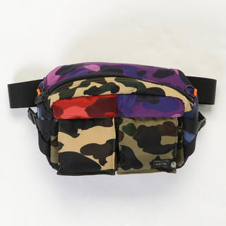 A BATHING APE - Bape Porter Mix Camo Waist Bag