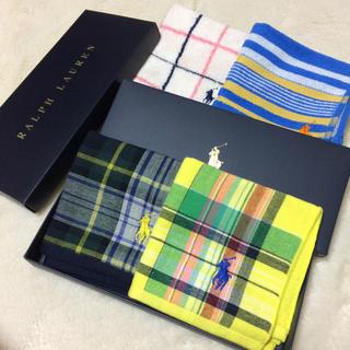 ラルフローレン(Ralph Lauren)の新品❗️ラルフローレン タオルハンカチ❤️(ハンカチ/ポケットチーフ)