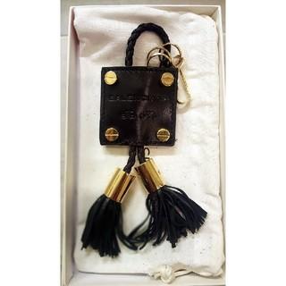 バレンシアガ(Balenciaga)の世界に1つ バレンシアガ 特注品 キーリング 黒 ゴールド 革 キーホルダー(キーホルダー)