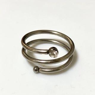 難あり アウトレット ステンレス指輪 螺旋(リング(指輪))