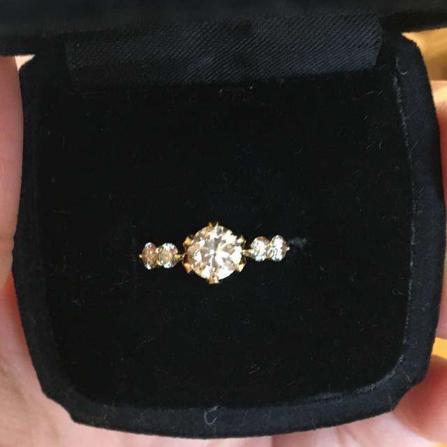 k18 センター0.82ct ダイヤモンドリング レディースのアクセサリー(リング(指輪))の商品写真