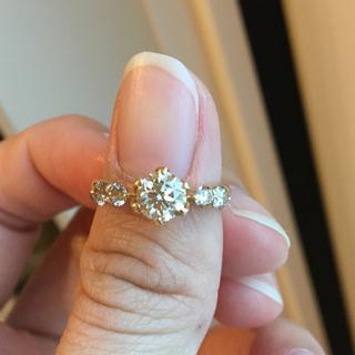 k18 センター0.82ct ダイヤモンドリング(リング(指輪))
