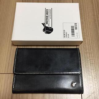 b7074c495be3 ホワイトハウスコックス(WHITEHOUSE COX)のグレンフィールド 三つ折り財布 黒レザー (