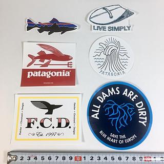 パタゴニア(patagonia)のパタゴニア ステッカー 6点 ☆ FCD トライデント ダム フィッシュ 小(サーフィン)