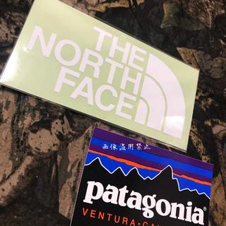 ザノースフェイス(THE NORTH FACE)の新品未使用 ノースフェイス&パタゴニア カッティングステッカー白&フィッツロイ (その他)