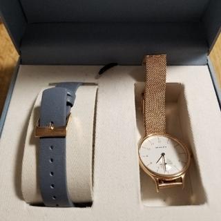 スカーゲン(SKAGEN)のSKAGEN SKW1103 美品 ゴールド 時計 ウォッチ(腕時計)