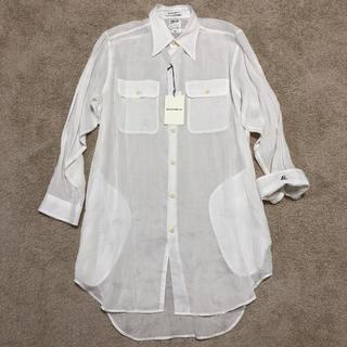 マディソンブルー(MADISONBLUE)のマディソンブルー  リネン ロング シャツ  白 ホワイト 新品未使用(シャツ/ブラウス(長袖/七分))