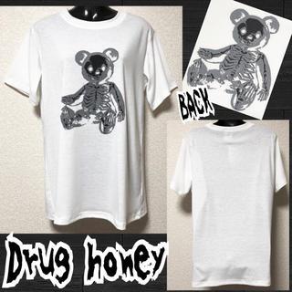 ファンキーフルーツ(FUNKY FRUIT)の【新品/Drug honey】スケルトンテディプリントT/ホワイト(Tシャツ(半袖/袖なし))