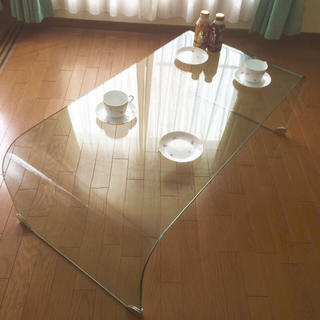 オオツカカグ(大塚家具)の☆*:.。. 一枚成形 テーブル。.:*☆(ローテーブル)
