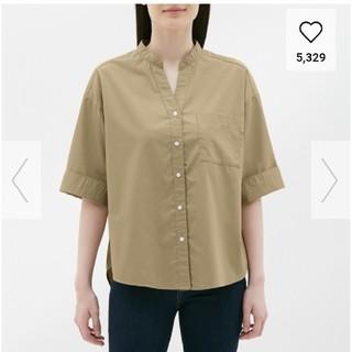 ジーユー(GU)のワイドスリーブシャツ ワークシャツ(シャツ/ブラウス(半袖/袖なし))
