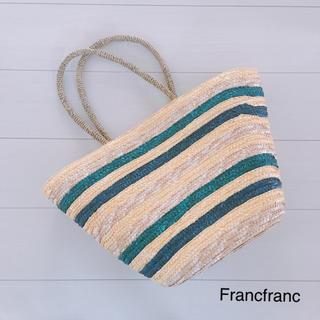 フランフラン(Francfranc)のFrancfranc フランフラン ♡ カゴバッグ 籠 カゴ(かごバッグ/ストローバッグ)
