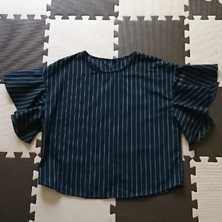 ジーユー(GU)の袖フリルトップス(シャツ/ブラウス(半袖/袖なし))