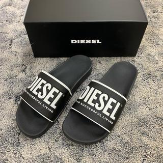 ディーゼル(DIESEL)のDIESELディーゼル新品ロゴシャワーサンダル人気ブラック箱付き送料込み(サンダル)