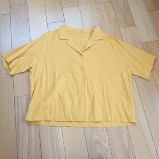 ジーユー(GU)のオープンカラーシャツ(シャツ/ブラウス(半袖/袖なし))