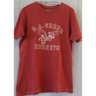ダブルワークス(DUBBLE WORKS)のウェアーハウス ダブルワークス レンガ色Tシャツ ロゴ(Tシャツ/カットソー(半袖/袖なし))