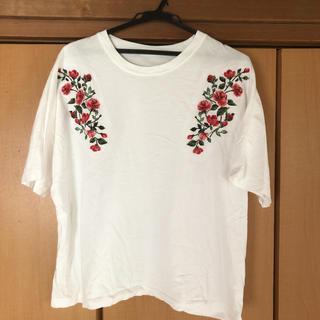 ジーユー(GU)のジーユー  刺繍 Tシャツ XL(Tシャツ(半袖/袖なし))