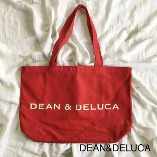 ディーンアンドデルーカ(DEAN & DELUCA)の新品 ディーン&デルーカ トートバッグ バッグ エコバッグ L 赤(トートバッグ)