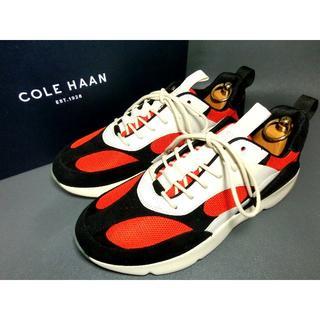 コールハーン(Cole Haan)の♂【新品】コールハーン ダッドスニーカー US 9 26.5~27黒 白 赤橙(ドレス/ビジネス)