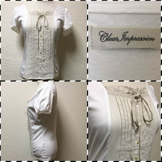 クリアインプレッション(CLEAR IMPRESSION)の◾︎◾︎ クリアインプレッション ◾︎◾︎ 半袖デザインカットソー(カットソー(半袖/袖なし))