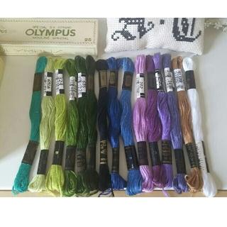 オリンパス(OLYMPUS)の刺繍糸セット(生地/糸)