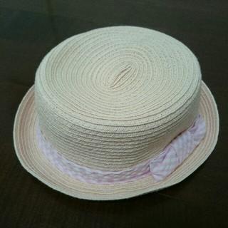ジーユー(GU)のGU 子供 ガールズ 麦わら帽子 54センチ(帽子)