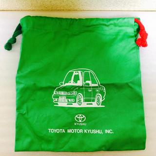 トヨタ(トヨタ)の非売品✨トヨタ モーター 九州 巾着袋 小物入れ お弁当袋(ノベルティグッズ)
