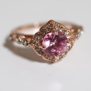 ピンクのアンティーク調ピンクゴールドカラーリング指輪大きいサイズ(リング(指輪))