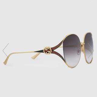 3852fd7008f9 グッチ(Gucci)の【新品】GUCCI ラウンドフレーム メタルサングラス GG0225S (サングラス