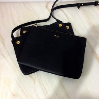 58c41e35193b セリーヌ(celine)のCELINE TRIO BAG ブラック スモールサイズ トリオ(ショルダーバッグ)