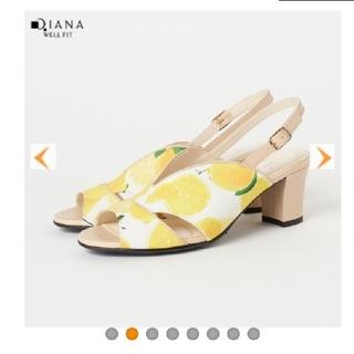 ダイアナ(DIANA)の今期!DIANA ダイアナ サンダル 21.5cm レモン柄 かねまつ(サンダル)